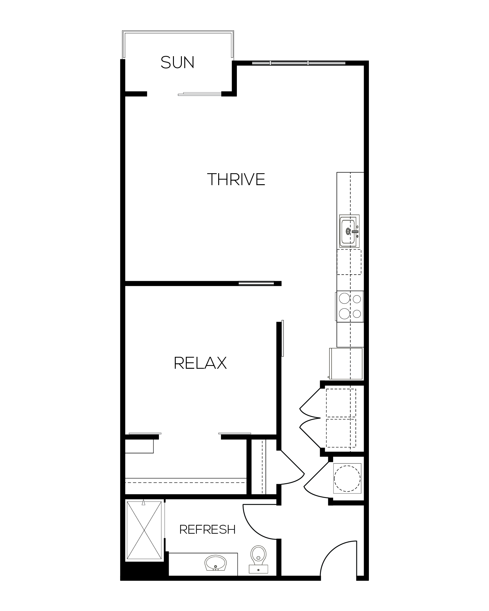 The Rouge Alternate Floor Plan
