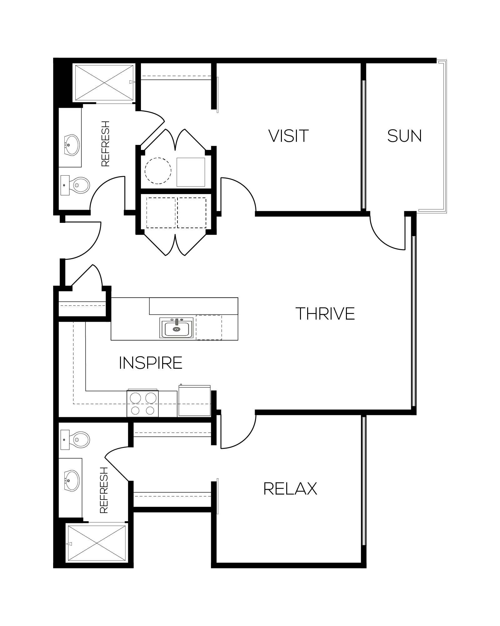 The Vermillion Floor Plan